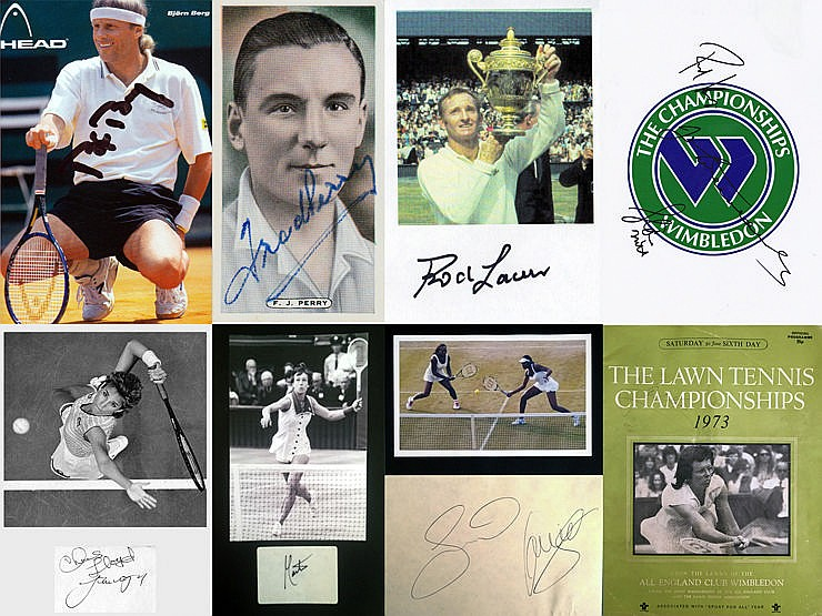 Autographs of Wimbledon Tennis Champions (1930-2000s), i) Fred Perry