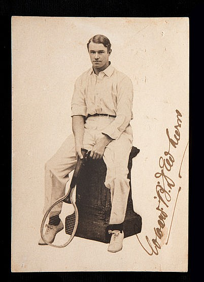 Photograph signed by the Australian tennis player Teddy Dewhurst circa