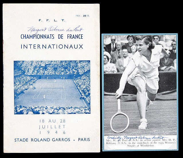 1946 French Open Lawn Tennis Championship programme signed by Margaret