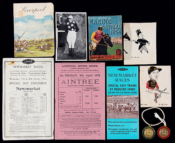 A group of 29 British Rail flyers for race meetings,  including Grand