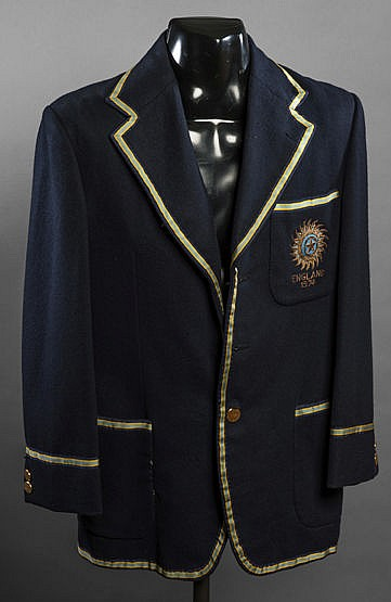 Madan Lal India cricket blazer from the 1974 Tour of England, dark bl