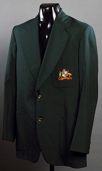 Greg Chappell signed Australia cricket blazer 1970s, signed in ink to