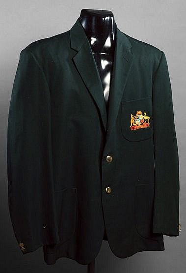 Dennis Lillee Australia cricket blazer,  dark green with Australia cre