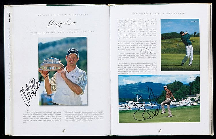 Multi-signed European Tour Golf Yearbook 2002,  contains 193 signature