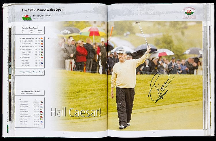Multi-signed European Tour Golf Yearbook 2006, contains 177 signature