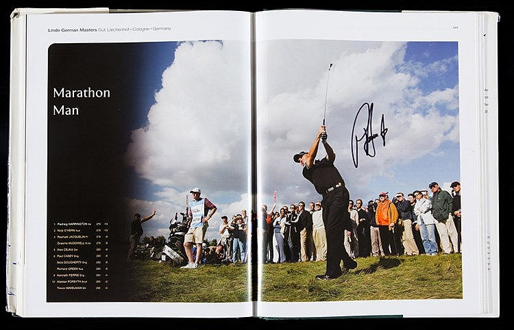 Multi-signed European Tour Golf Yearbook 2005,  contains 154 signature