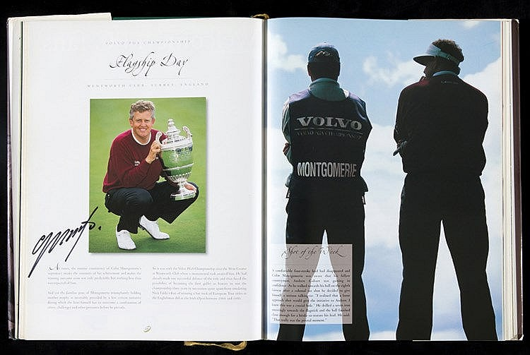 Multi-signed European Tour Golf books for 1999, 2000 & 2001,  the trio