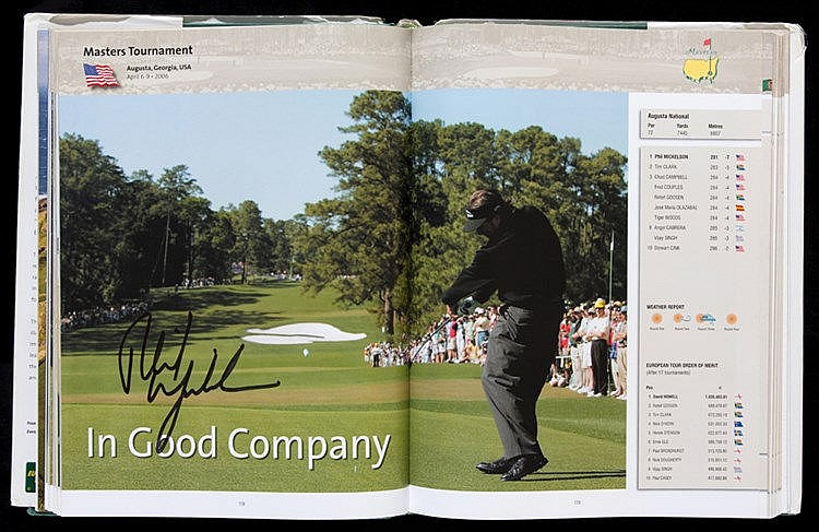 Multi-signed European Tour Golf Yearbook 2007, contains 183 signature