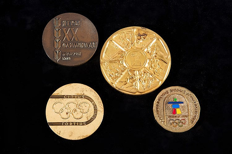 Four Olympic Games commemorative medals, i) Soviet issue for Munich 1