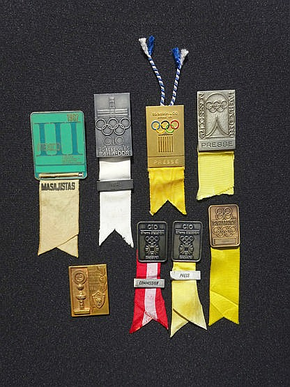 Seven International Olympic Committee Session badges,  i) Mexico 1967,