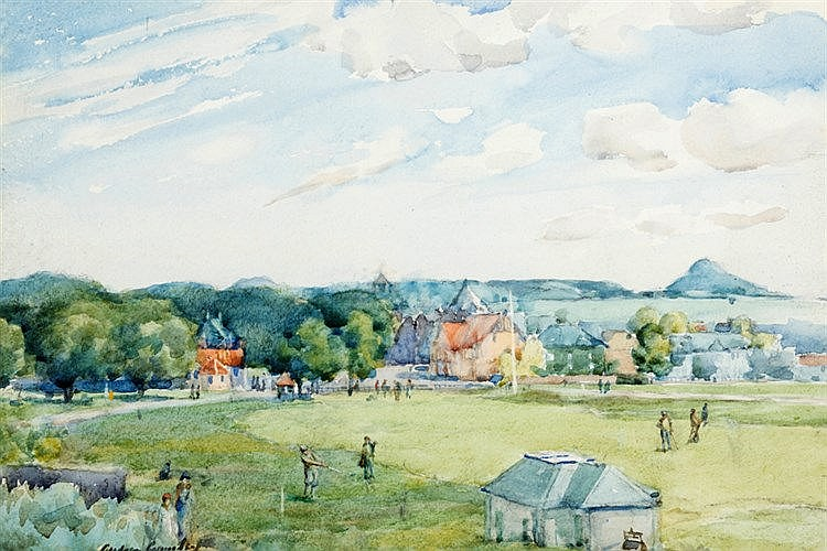 Andrew Archer Gamley R.S.W. (1869-1949)  No.1 FAIRWAY GULLANE  signed
