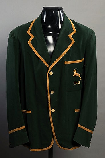 Jock Van Niekerk South Africa Springboks rugby blazer for the tour of