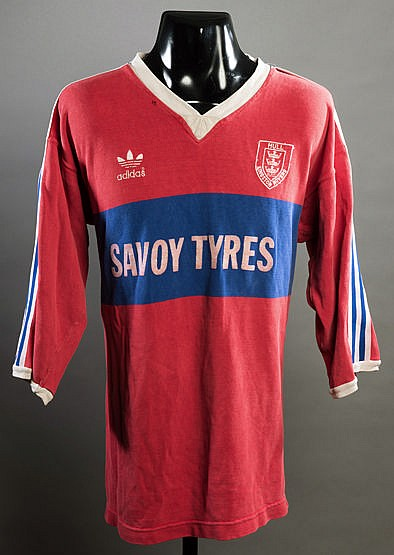 John Dorahy red & blue Hull Kingston Rovers No.6 rugby league shirt,