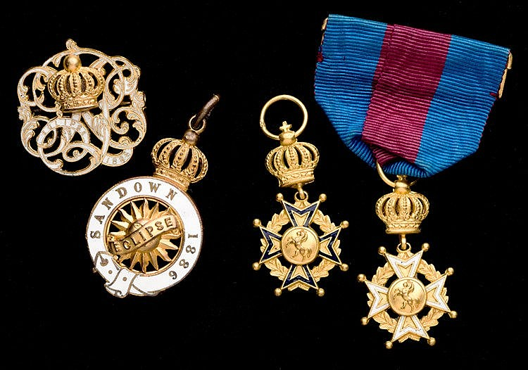 Two groups of Sandown Park badges, for the years 1885 & 1886, i) 1885