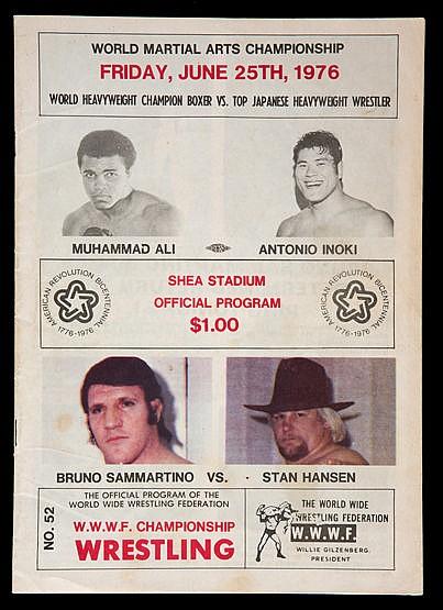Muhammad Ali v Antonio Inoki boxing programme 25th June 1976,  Shea St