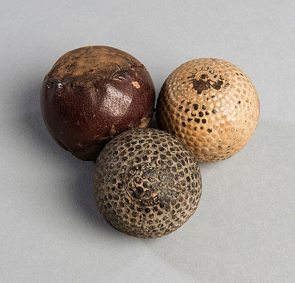 A Halley's rubber-core bramble ball circa 1912,  in fair condition; so
