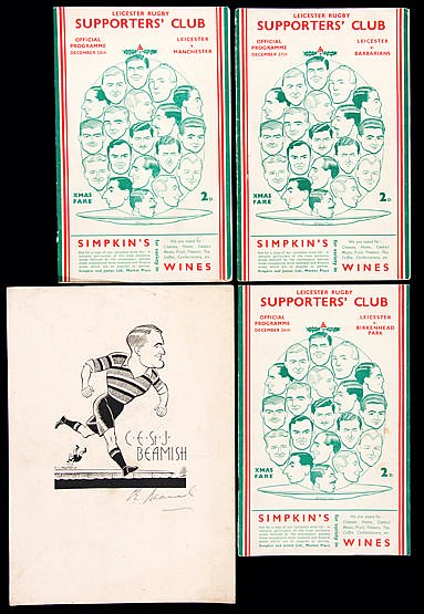 Three Leicester rugby union programmes for matches played on three con