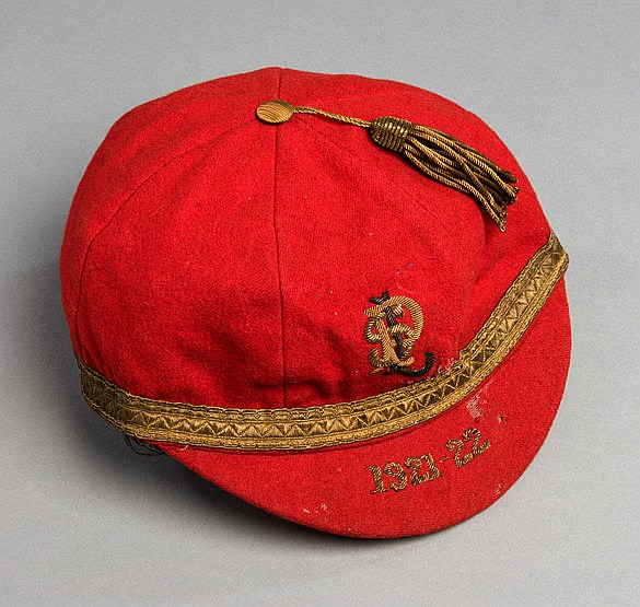 Pontypool Rugby Football Club cap 1921-22,  monogram and dated,