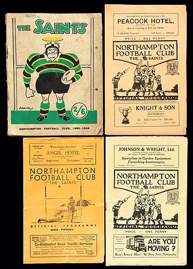 Three Northampton v Leicester rugby programmes,  27th October 1934, 22