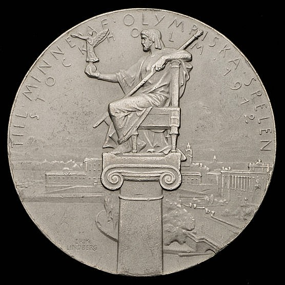 A Stockholm 1912 Olympic Games participation medal, in white metal, t