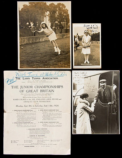 Ephemera relating to the grand slam winning English tennis player Bett