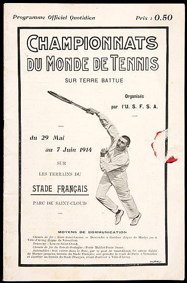 Rare programme for the World Tennis Championship on Clay at Saint Clou