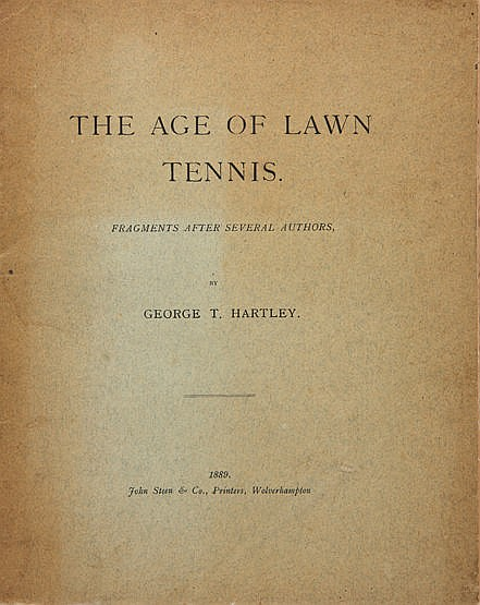 Hartley (George T.) The Age of Lawn Tennis book,  Fragments After Seve