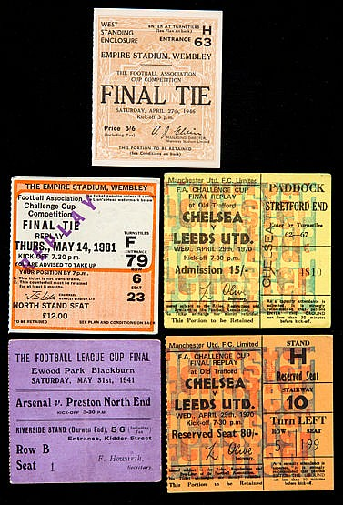 F.A. Cup Final ticket collection, wartime for Arsenal v Preston N.E.