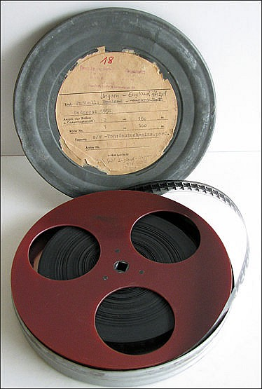 Original film of the 1953 England V Hungary football match, 100 metre