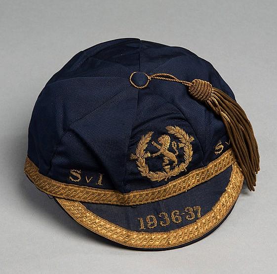 Bobby Ancell Scotland international football cap 1936-37, the dark bl