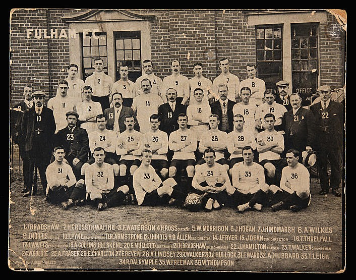 Original Fulham Football Club photograph season 1907-08,  by Albert Wi
