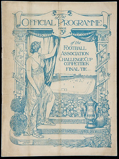 F.A. Cup Final programme Huddersfield Town v Preston North End played
