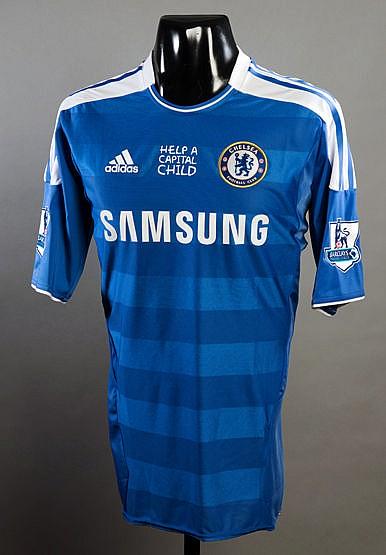Fernando Torres blue Chelsea No.9 jersey season 2011-12, short-sleeve