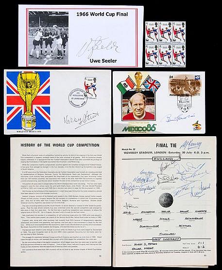 1966 World Cup autographs,  original tournament programme signed by Al