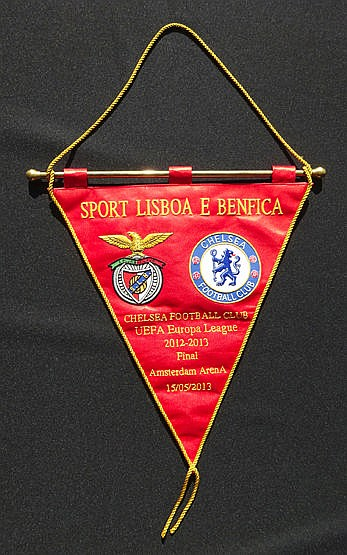Official pennant for the 2013 Europa Cup Final Chelsea v Benfica at th