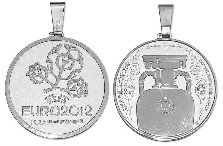 2012 UEFA European Football Championship silver runners-up medal,  .92