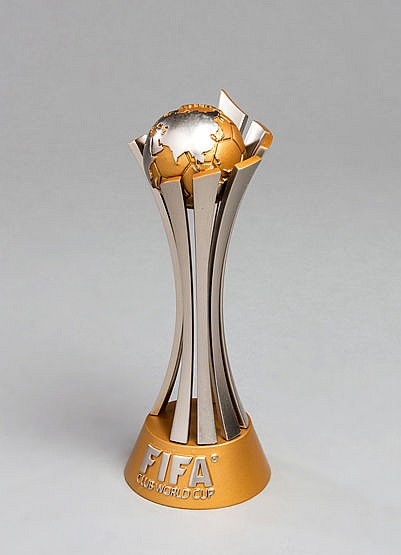 A Barcelona player's trophy from the 2015 FIFA Club World Cup,  in the