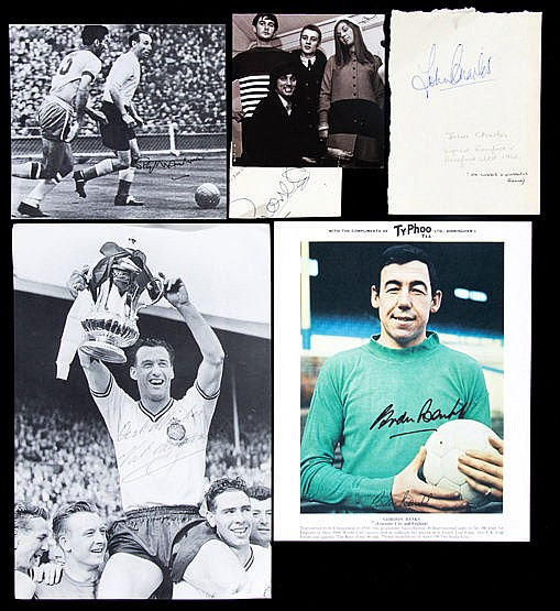 Football autographs, Tom Finney signed Footballer of the Year present