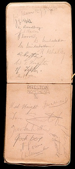 Two small late 1930s football autograph books, various team and part-