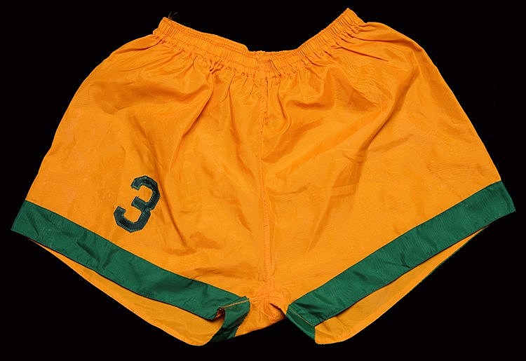 A pair of Charlie McCully New York Cosmos No.3 playing shorts from the