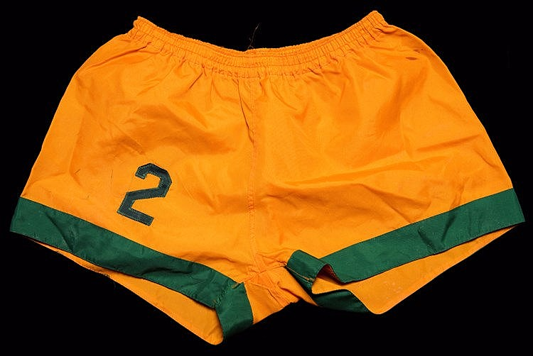 A pair of Barry Mahy New York Cosmos No.2 playing shorts from the 1973