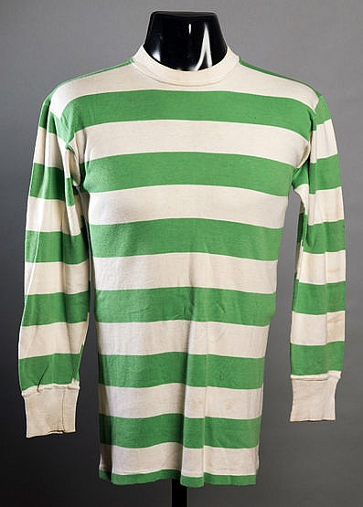 Jimmy Johnstone green & white hooped Celtic jersey season 1966-67,  lo
