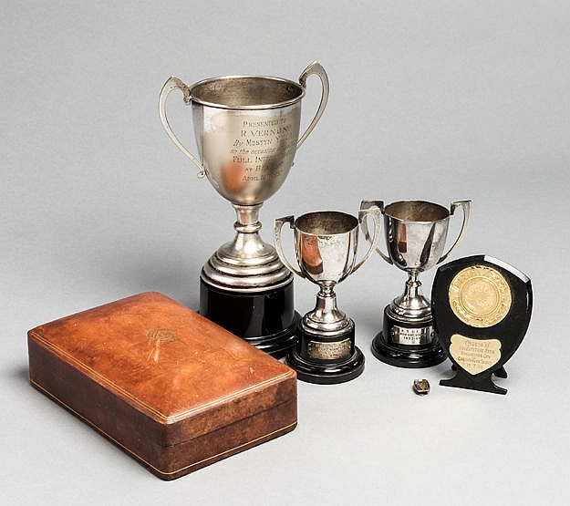 Roy Vernon trophies and presentations,  i) silver plated cup presented