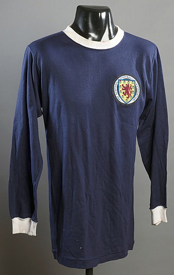 A blue Scotland No.15 international substitute's jersey late 1960s,  l