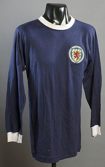 A blue Scotland No.15 international substitute's jersey late 1960s, l