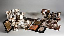 Sheila Van Damm Trophy Collection,  i) a silver-plated tazza inscribed