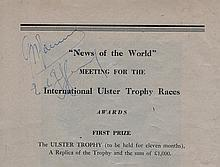 Giuseppe Farina and Baron Emmanuel de Graffenried autographs from 1951