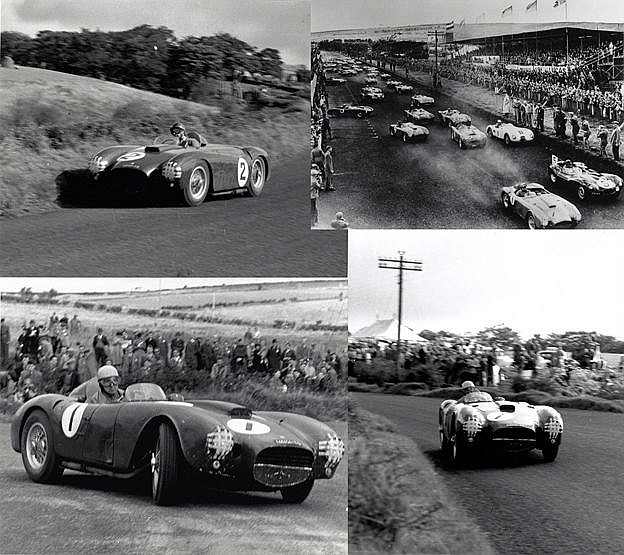1954 Dundrod Tourist Trophy Lancia team photographs, fifteen large b