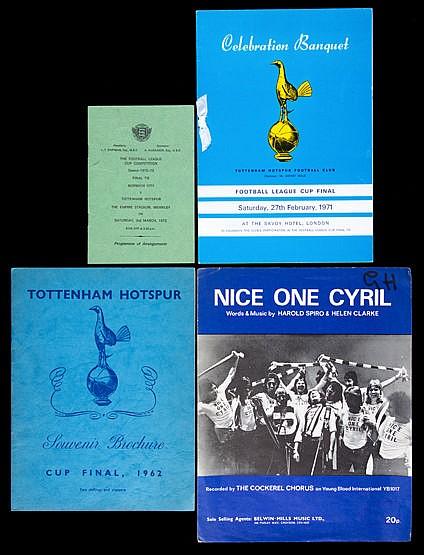 Tottenham Hotspur ephemera,  Souvenir Brochure 1962 F.A. Cup Final, 19