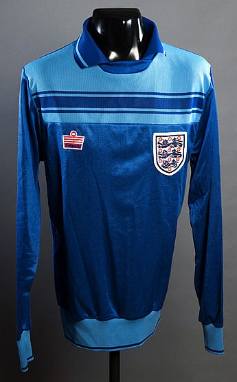 Peter Shilton blue England goalkeeping jersey from the Tour of Austral